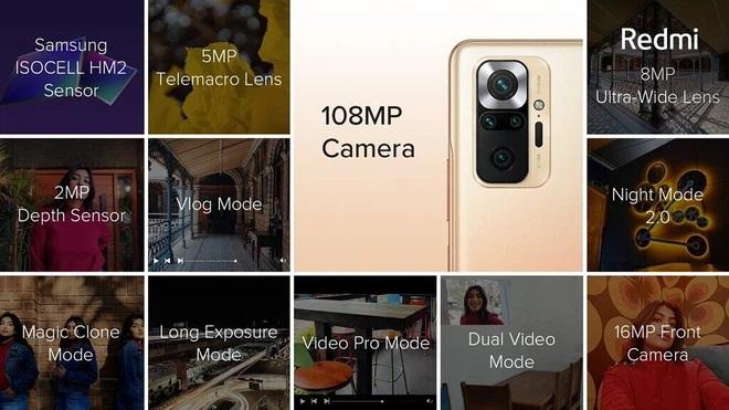 camera xiaomi redmi note 10 pro và xiaomi redmi note 10 pro max