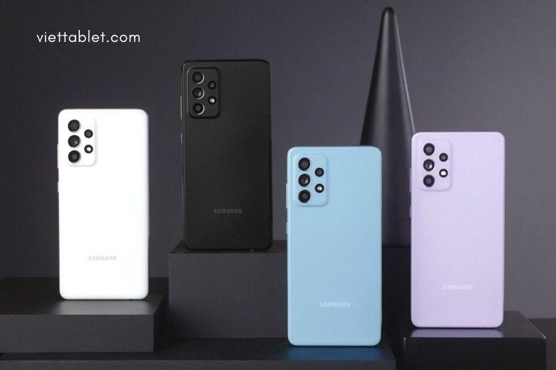 thiết kế của Samsung Galaxy A52 và Galaxy A72