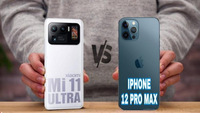 so sánh iphone 12 pro max vs mi 11 ultra
