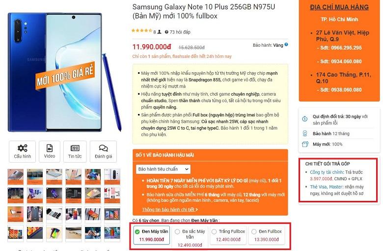 Đặt mua ngayGalaxy Note 10 Plus