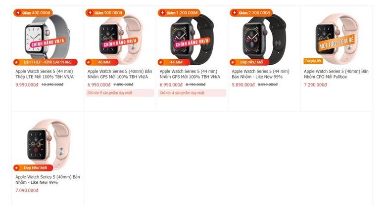 Mua ngay Apple Watch Series 5