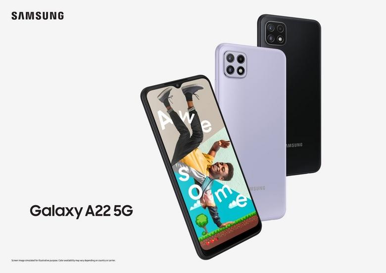 cấu hình Galaxy A22