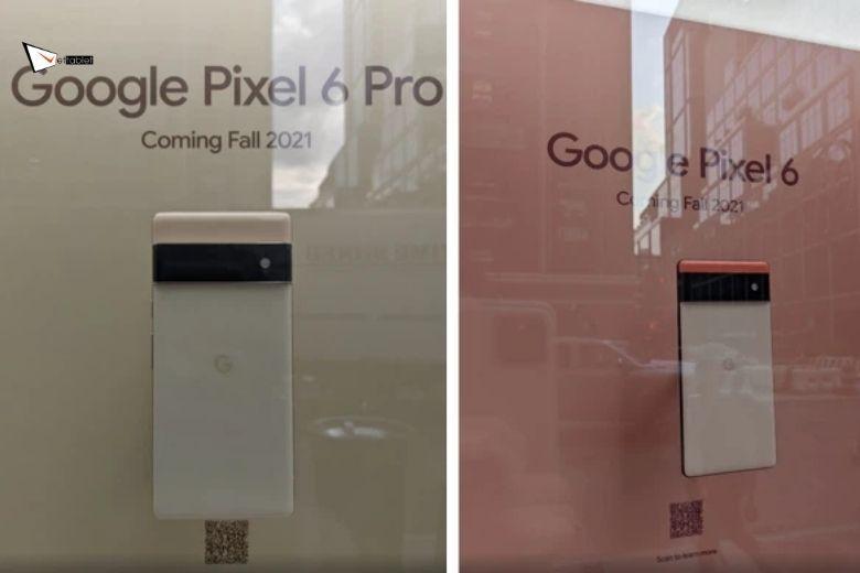 Google Pixel 6 và 6 Pro trưng bày tại New York