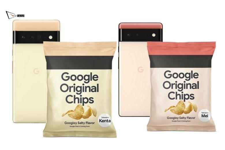 Thiết kế Google Pixel 6 và 6 Pro quảng bá theo dạng snack tại Nhật Bản