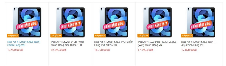 Mua ngay iPad Air 4