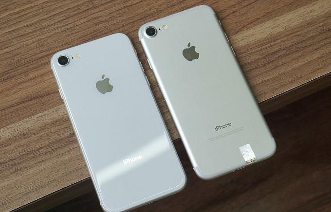 iPhone 8 cũ so sánh cùng iPhone 7