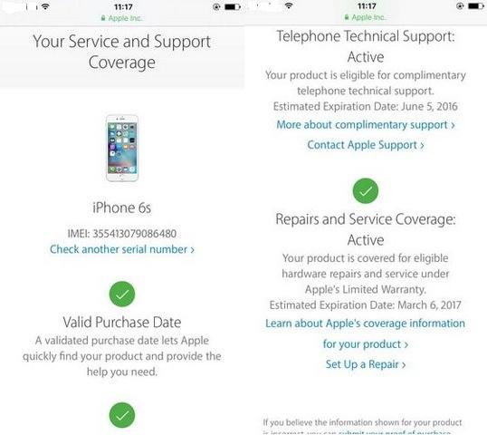 kiểm tra imei iPhone 6s 6