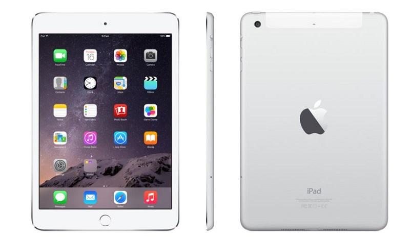 iPad Mini 3 màu trắng và bạc