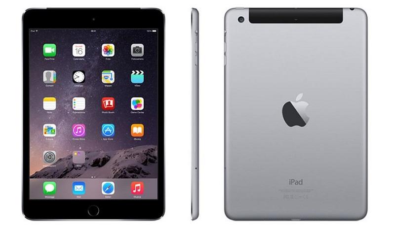 iPad Mini 3 màu đen và xám