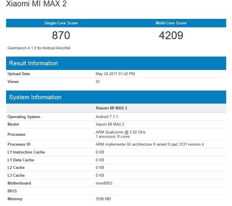 Xiaomi Mi Max 2 ra mắt lộ hiệu năng  2