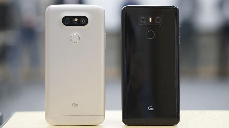 So sánh LG G6 với LG G5: Thiết kế