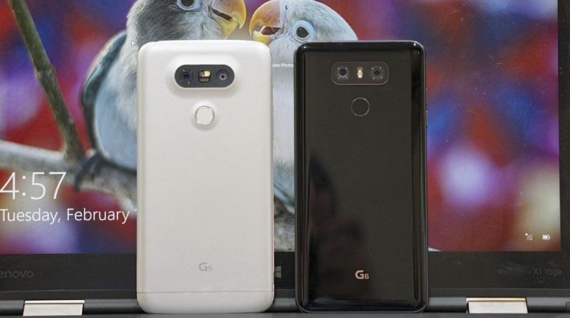 So sánh LG G6 với LG G5: Pin