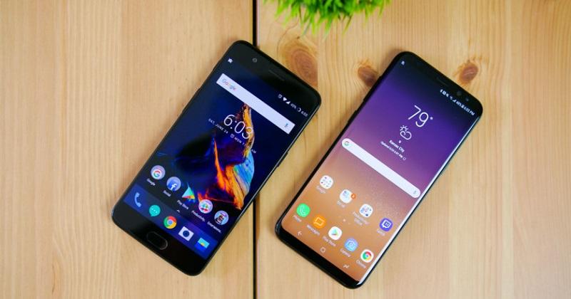 So sánh OnePlus 5 và Samsung Galaxy S8: Màn hình