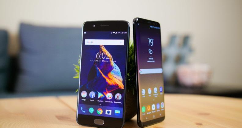 So sánh OnePlus 5 và Samsung Galaxy S8: Kích thước