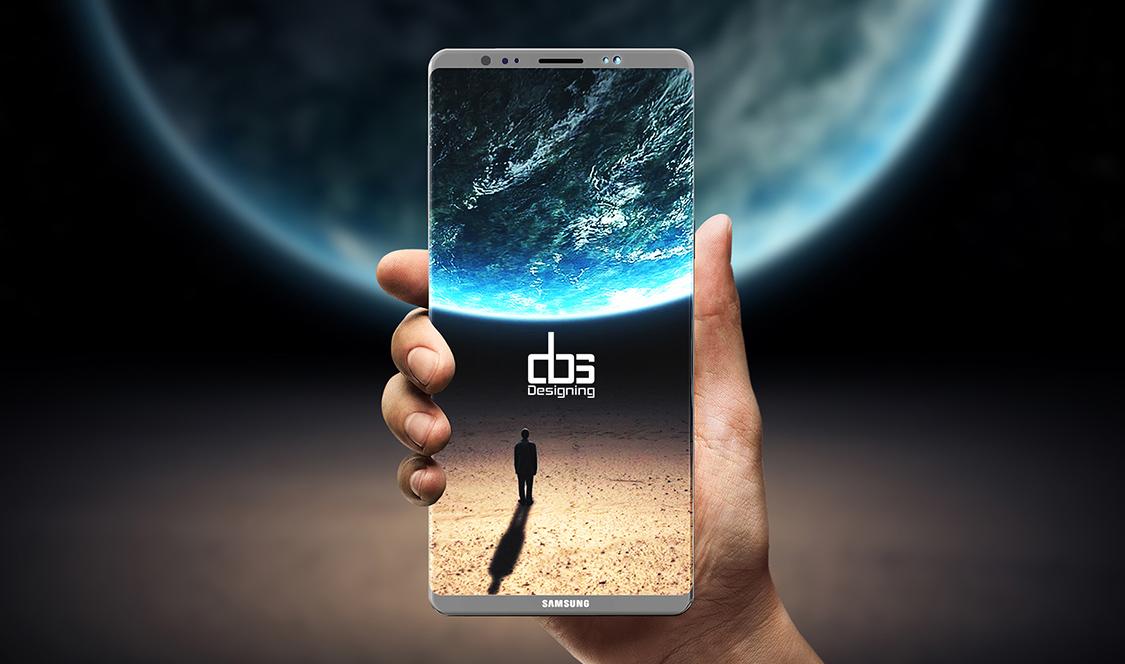 Samsung Galaxy Note 8 sẽ có màn hình vô cực