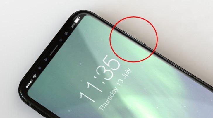 Nút nguồn trên iPhone 8