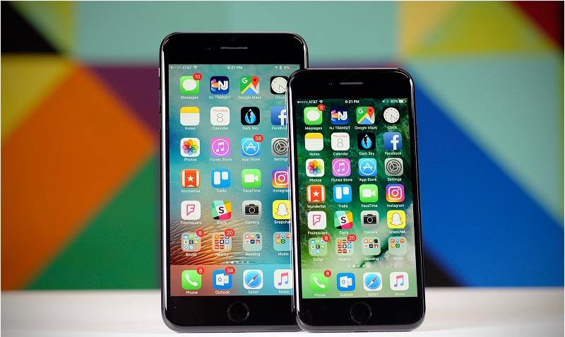 So sánh iPhone 7 và iPhone 7 Plus: Màn hình