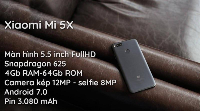 Đập hộp Xiaomi Mi 5X: Cấu hình