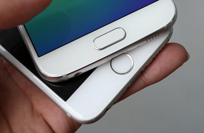 Samsung Galaxy S6 với iPhone 6 Lock: Vân tay
