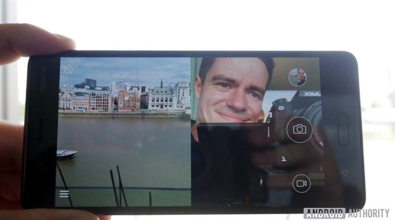 giao diện camera của Nokia 8