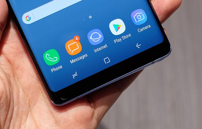 3 phím điều hướng của Samsung Galaxy Note 8