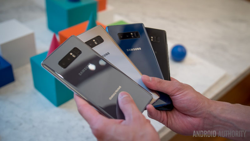 4 màu sắc của Samsung Galaxy Note 8