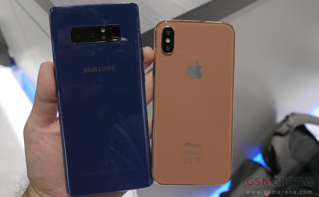 Samsung Galaxy Note 8 vs iPhone 8