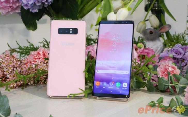 Samsung Galaxy Note 8 màu hồng