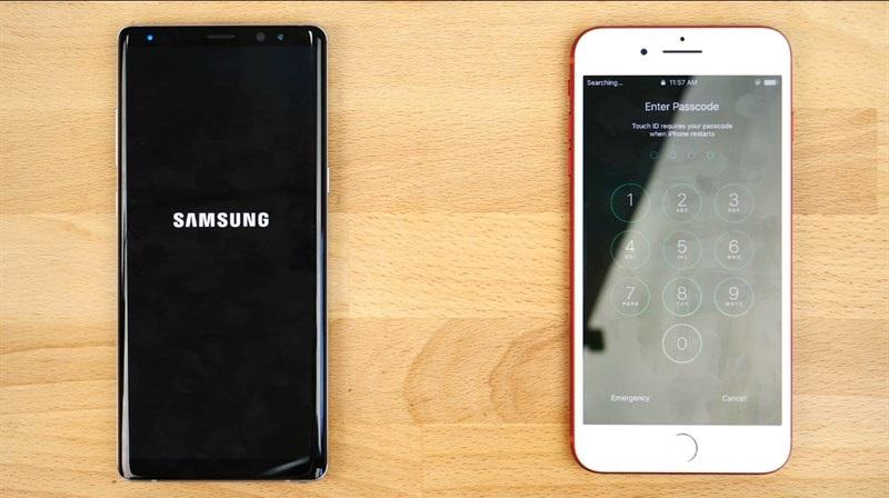 iPhone 7 Plus khởi động lại máy nhanh hơn Galaxy Note 8