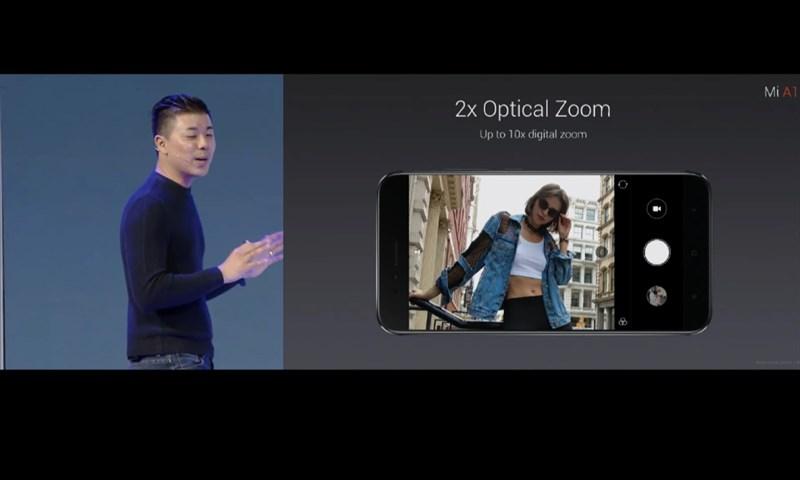 Camera hỗ trợ Zoom quang học 2X