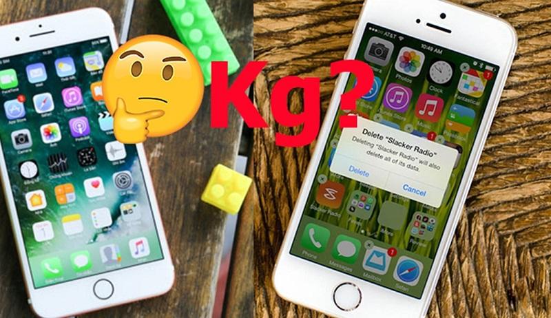 iPhone chứa đầy ứng dụng có nặng hơn chiếc iPhone bộ nhớ trống không?