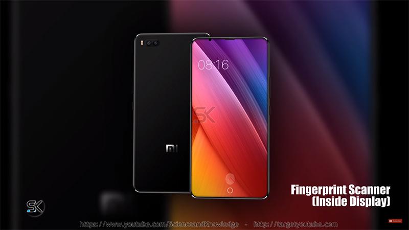 Cảm biến vân tay của Xiaomi Mi7