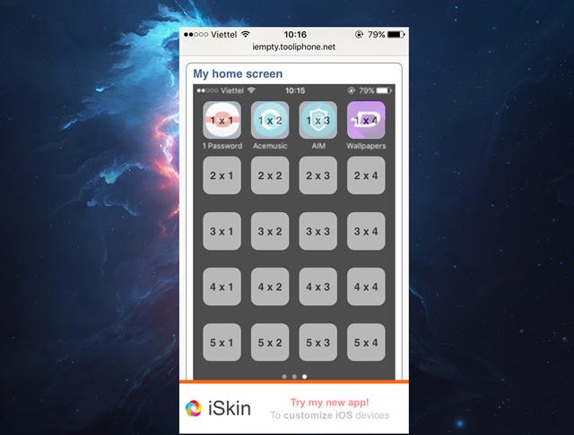 Lúc này trang web sẽ xác định vị trí các icon và hiển thị chúng trên màn hình xem trước