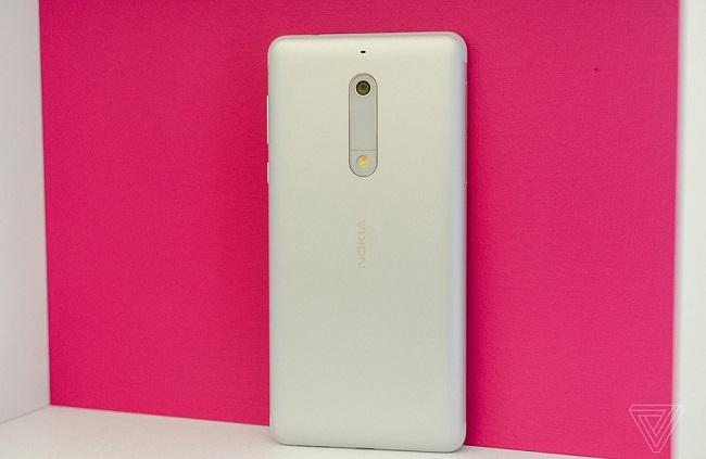 Nokia 5 thiết kế mặt lưng