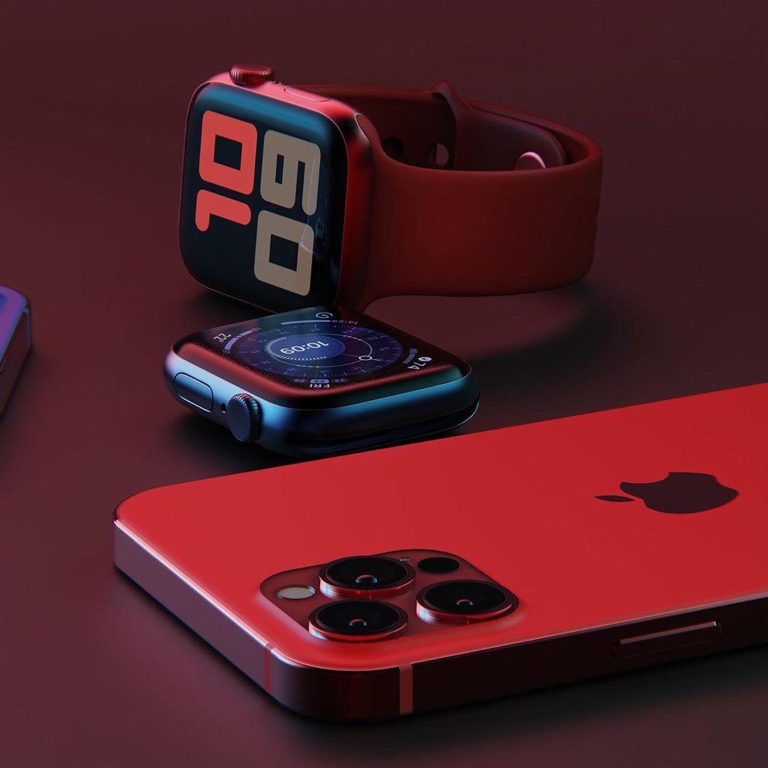 apple watch series 6 44mm bản nhôm và iphone pro mã