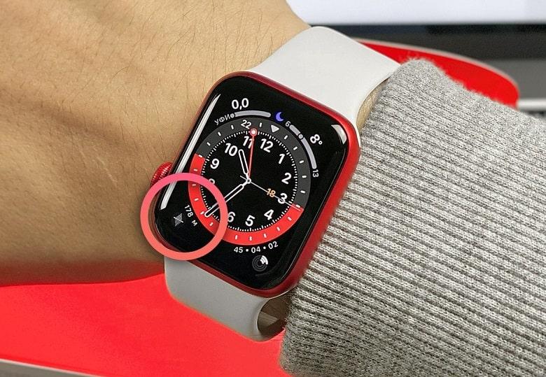 Cao độ kế Apple Watch Series 6 eSIM bản thép 44mm