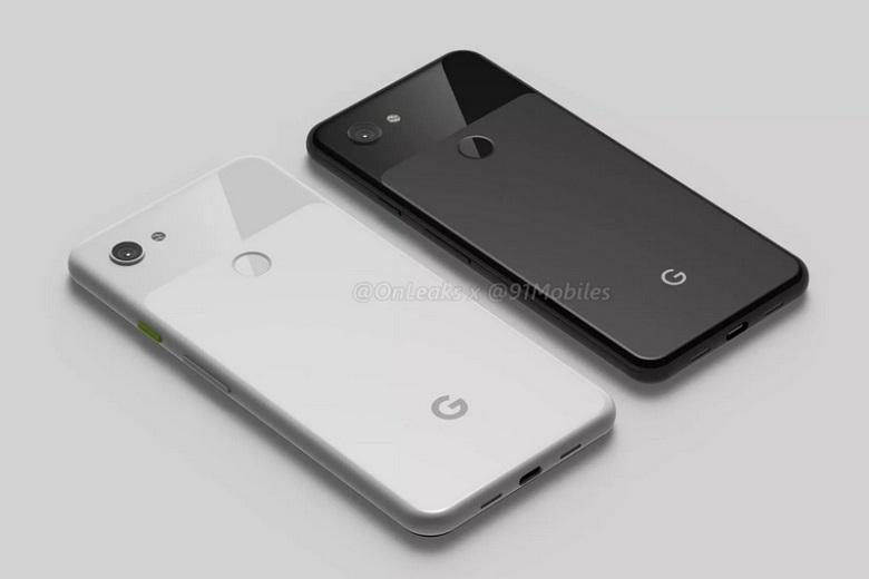 Mặt sau của Google Pixel 3 Lite và Pixel 3 Lite XL.