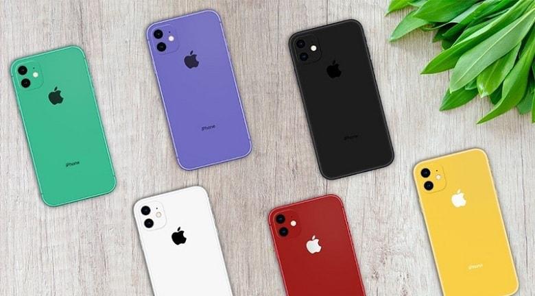 màu sắc của iPhone 11 cũ