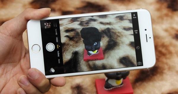 Giao diện chụp ảnh trên iPhone 6 Plus Lock