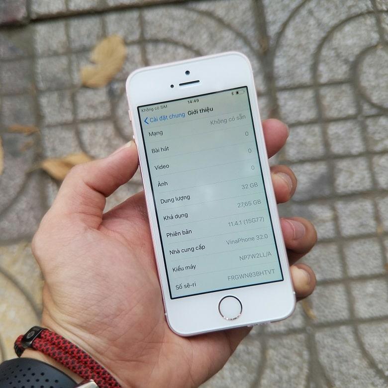 cấu hình iPhone SE 32GB cũ