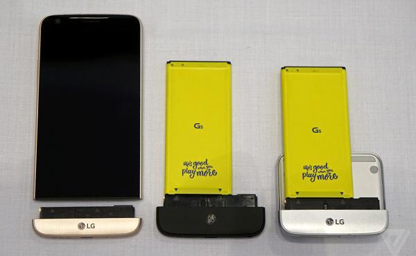 LG G5 cũ có các phụ kiện độc đáo kèm theo