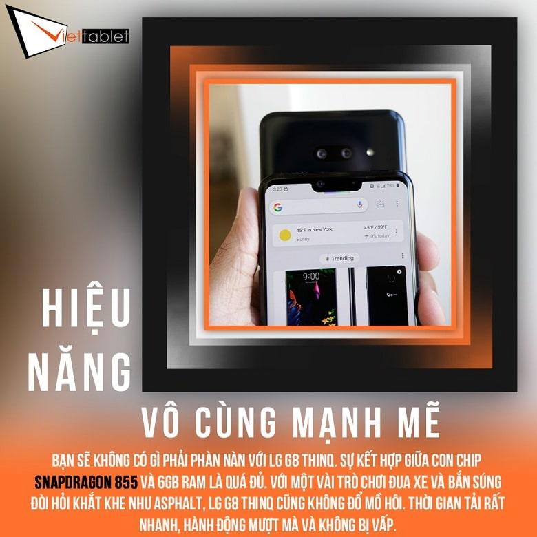 chơi game LG G8 ThinQ Hàn cũ