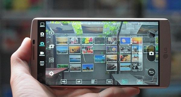Giao diện chụp ảnh trên LG V10 cũ