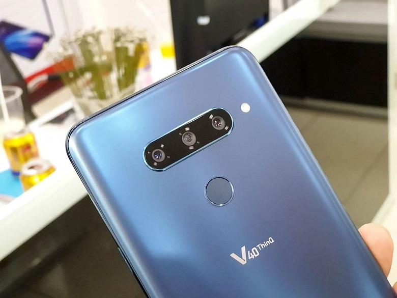 LG V40 ThinQ sở hữu đến 3 camera ở mặt sau
