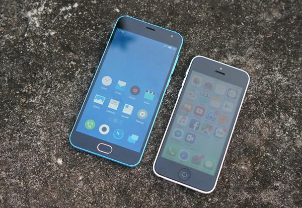 Tổng thể ngoại hình Meizu M2 có thiết kế khá giống iPhone 5C