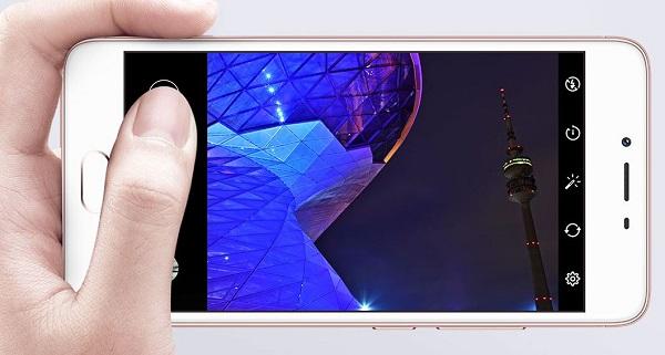 Giao diện chụp ảnh trên Meizu M3S