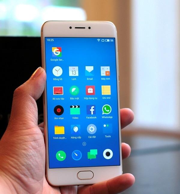 Công nghệ Super AMOLED giúp màn hình của Meizu Pro 6 hiển thị sắc nét trung thực