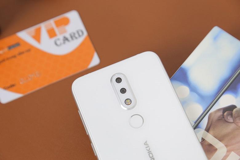cụm camera kép Nokia X6 màu trắng