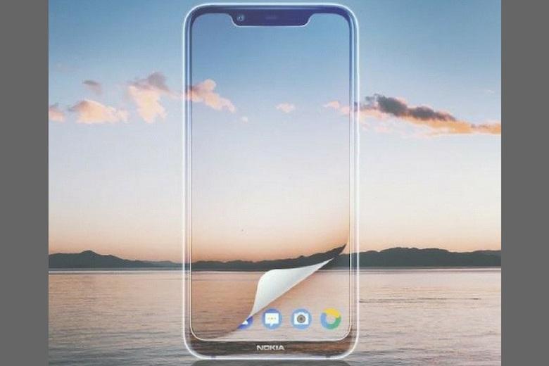 Thiết kế mặt trước Nokia X7 2018