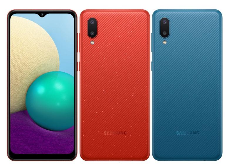 Samsung Galaxy M02 thiết kế nhiều màu sắc